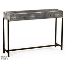 Faux anthracite shagreen console with bronze base