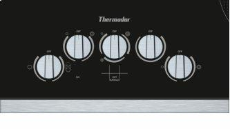 Knob Control Electric Cooktop 36'' Black, surface mount with frame CEM366TB