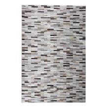 Durable Handmade Natural Leather Patchwork Cowhide Brick Area Rugs by Rug Factory Plus - 5' x 7' / Gray