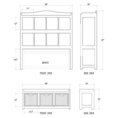 Hancock Storage Cabinet w/ Trundle Bench