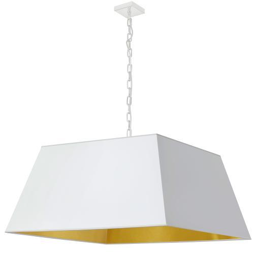Product Image - 1lt Milano X-large Pendant, Wht/gld Shade, Wht