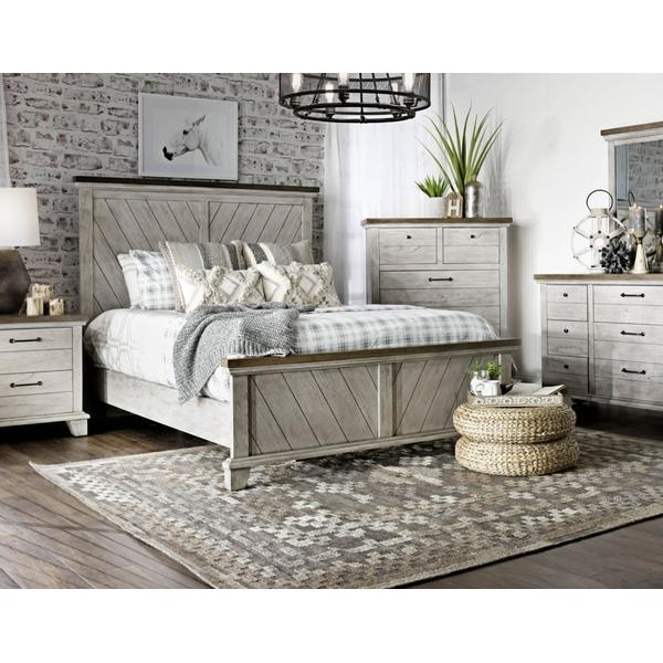 Bear Creek 4-Piece Queen Set (Q Bed/NS/Dresser/Mir)