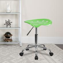 View Product - Vibrant Apple Green Tractor Seat and Chrome Stool