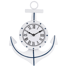 Blue & White Enamel Anchor Wall Clock