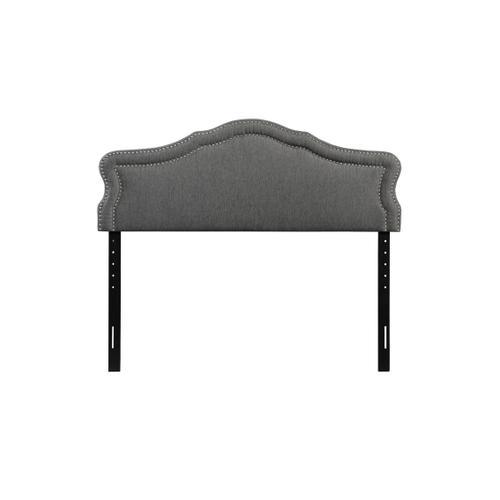 Emerald Home Queen 5/0 Upholstered Headboard Gray #6086-2