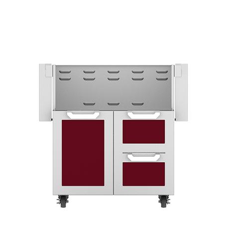 """Hestan - 30"""" Hestan Outdoor Tower Cart with Door/Drawer Combo - GCR Series - Tin-roof"""