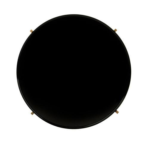 Tia Round 5 Tier Etagere - Black / Brass