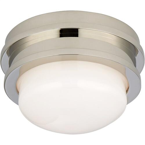 Visual Comfort CHC4600PN-WG E. F. Chapman Launceton LED 5 inch Polished Nickel Flush Mount Ceiling Light, Petite