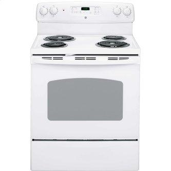 "GE 30"" Electric Freestanding Range with Storage Drawer White - JCBP240DMWW"