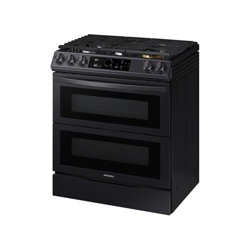 6.0 cu. ft. Flex Duo™ Front Control Slide-in Gas Range with Smart Dial, Air Fry & Wi-Fi in Black Stainless Steel