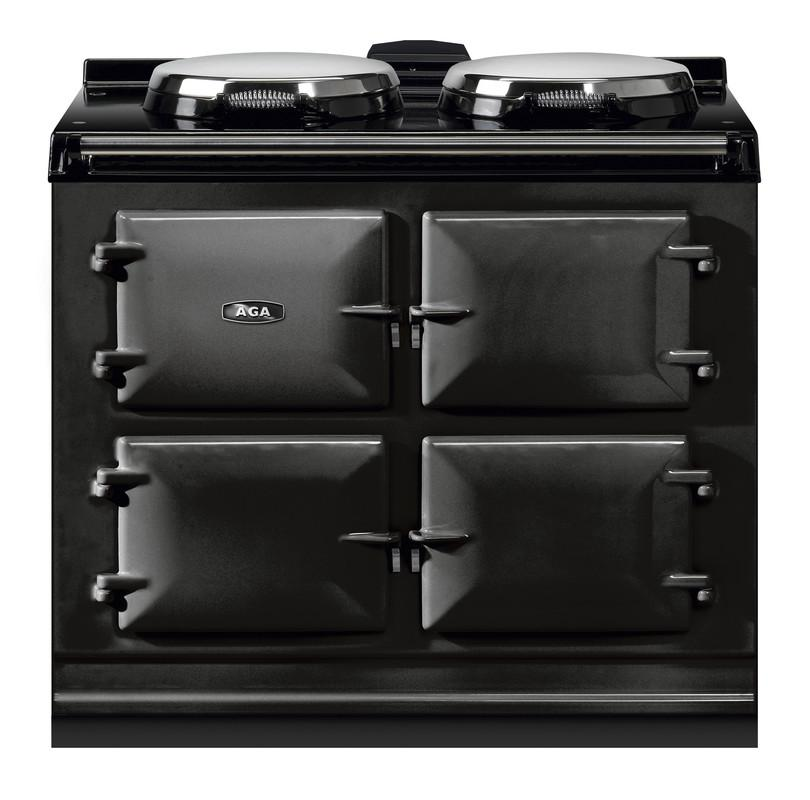 """AGAAga Dual Control 39"""" Electric/natural Gas Black With Stainless Steel Trim"""