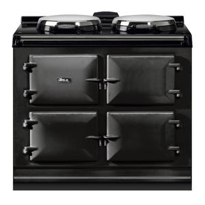 "AGAAGA Dual Control 39"" Electric/Natural Gas Black with Stainless Steel trim"
