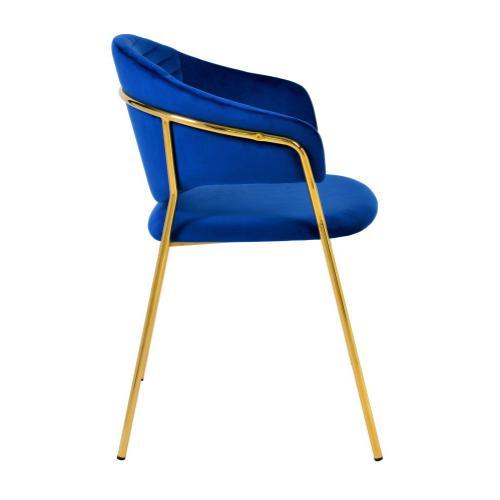 Tov Furniture - Cay Navy Velvet Chair (Set of 2)