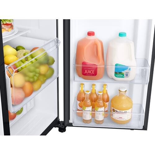 27.4 cu. ft. Large Capacity Side-by-Side Refrigerator in Black Stainless Steel