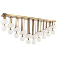 30lt Halogen Flush Aged Brass W/ White Glass