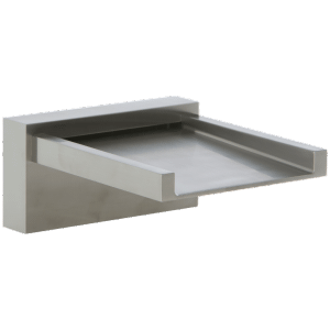 Quarto Deck Mount Open Waterfall Alternative Tub Filler Brushed Nickel Product Image