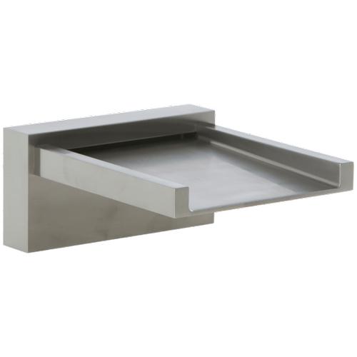 Quarto Deck Mount Open Waterfall Alternative Tub Filler Brushed Nickel