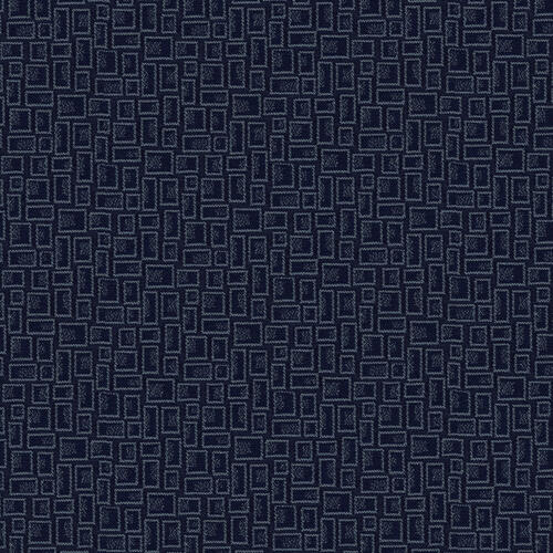 Flash Furniture - 18.5''W Church Chair in Mirage Tartan Blue Fabric - Gold Vein Frame