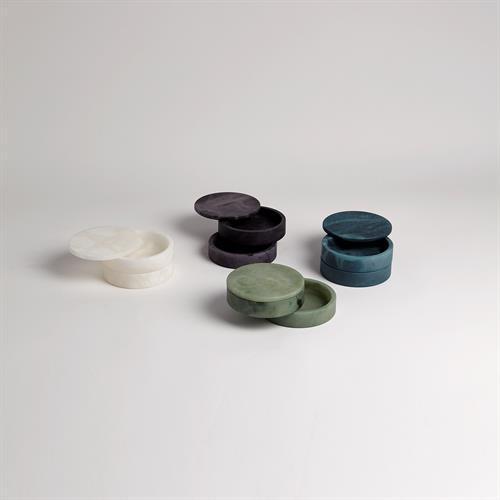 Alabaster Swivel Box-Green