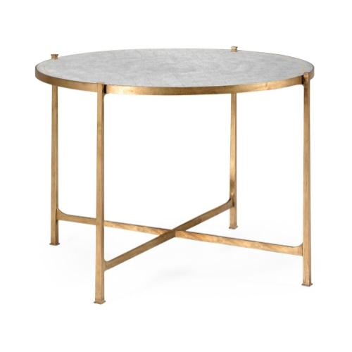 Transitional gilded centre table