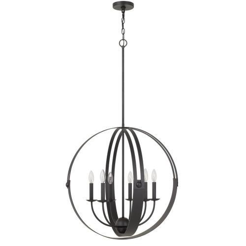 Cal Lighting & Accessories - 60W X 6 Valais Metal Chandelier