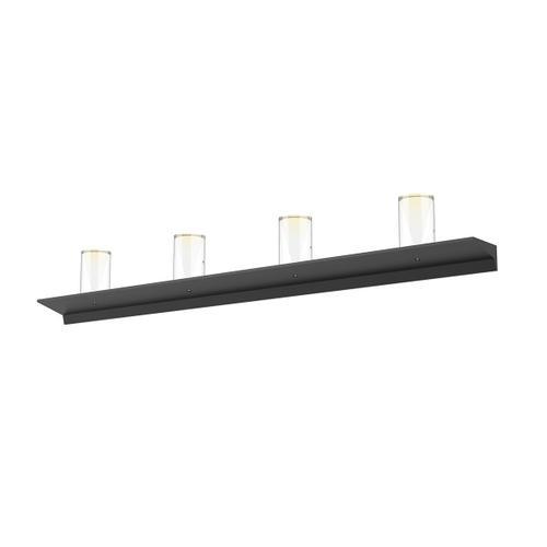 "Sonneman - A Way of Light - Votives LED Wall Bar [Size=4', Color/Finish=Satin Black, Shade Size=4.5"" height x 2.75"" diameter]"