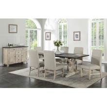 See Details - Jefferson 7-Piece Dining Set, Brown
