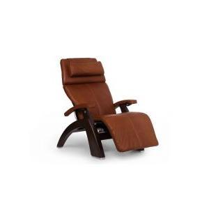 Perfect Chair ® PC-600 Omni-Motion Silhouette - Cognac Premium Leather - Dark Walnut