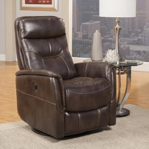 GEMINI - TRUFFLE Power Swivel Glider Recliner