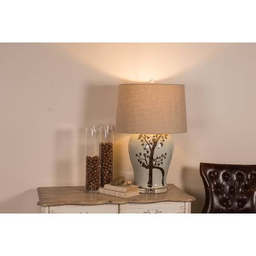 Rusty Brown Twisted Tree Table Lamp