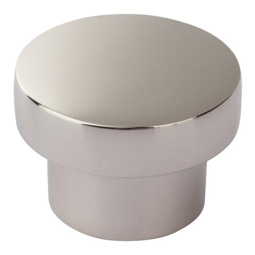 Chunky Round Knob Medium 1 7/16 Inch - Polished Nickel