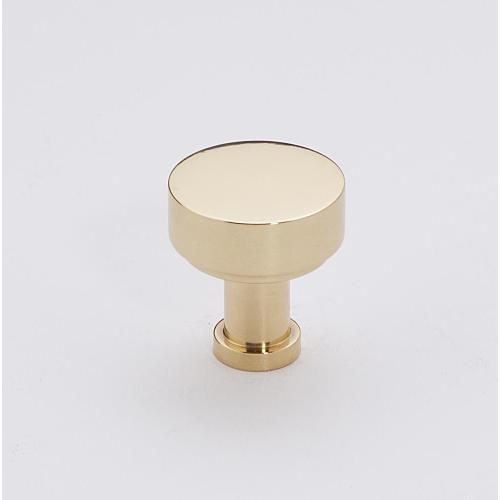 """MODERNE 3/4"""" KNOB A716-34 - Unlacquered Brass"""