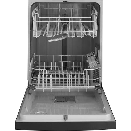 """GE Appliances Canada - GE 24"""" Built-In Front Control Dishwasher with Tall Tub Stainless Steel - GDF510PSMSS"""