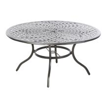 "Bay Leaf 60"" Round Dining Table w/ umbrella hole"