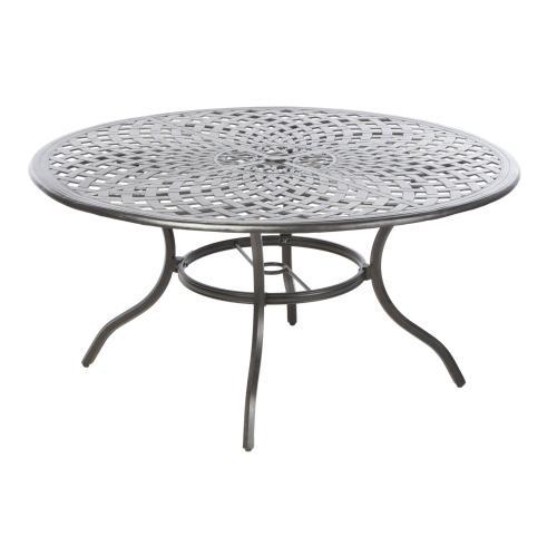 """Bay Leaf 60"""" Round Dining Table w/ umbrella hole"""