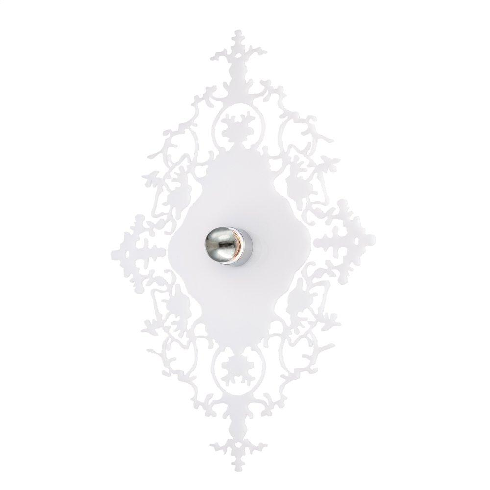 See Details - 1-LIGHT WALL MOUNT - White