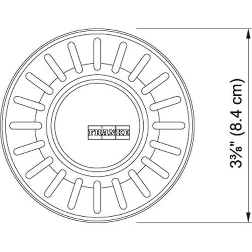 Waste Basket Strainers Plug Polished Chrome