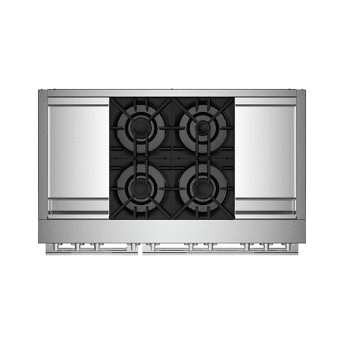 """RISE™ 48"""" Dual-Fuel Professional Range with Dual Chrome-Infused Griddles"""