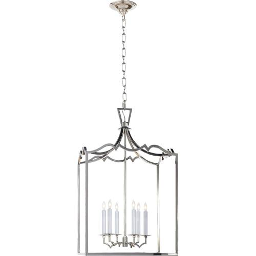 Visual Comfort CHC2182PN E. F. Chapman Darlana 6 Light 22 inch Polished Nickel Foyer Pendant Ceiling Light