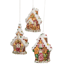 Gingerbread House Ornaments (3 pc. ppk.)