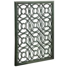 Large wall mirror in metal frame with scroll work Painted finsih in verdi green