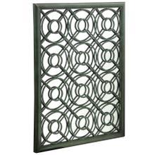 See Details - Large wall mirror in metal frame with scroll work Painted finsih in verdi green