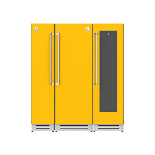 "Hestan - 72"" Column Freezer (L), Refrigerator and Wine Cellar ® Ensemble Refrigeration Suite - Sol"