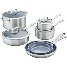 ZWILLING Spirit Ceramic Nonstick 3-ply 10-pc Stainless Steel Ceramic Nonstick Cookware Set