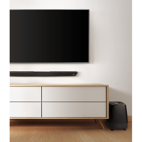 High-Performance Home Theater Sound Bar and Wireless Subwoofer System with Chromecast Built-in in Black
