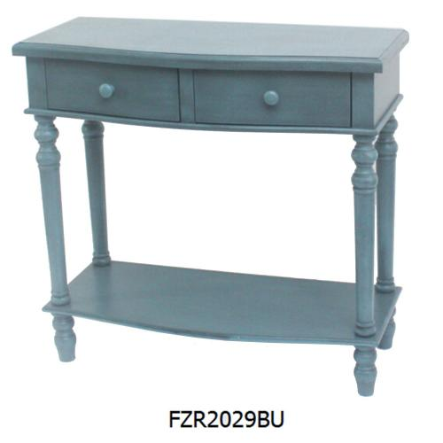 Crestview Collections - BLUE SIDE TABLE