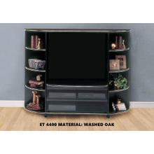 See Details - TV STAND - WASHED OAK ENTERTAINMENT CENTER