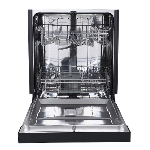 "GE 24"" Built-In Front Control Dishwasher with Stainless Steel Tall Tub Black - GBF532SGMBB"