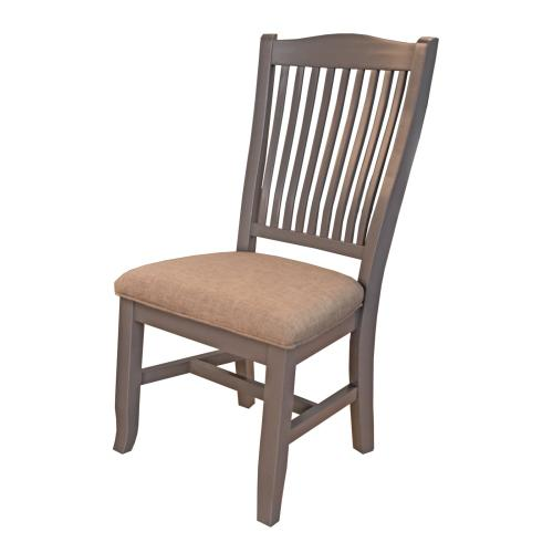 SLATBACK SIDE CHAIR -UPH. SEAT