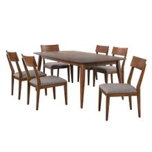 DLU-MC4278-C45-7P  7 Piece Rectangular Dining Table Set  Padded Performace Fabric Seats